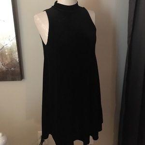 {5/$20 SALE} Velvet Mock Turtleneck Swing Dress